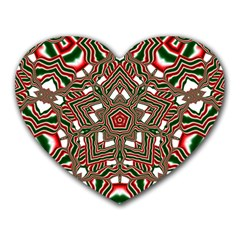 Christmas Kaleidoscope Heart Mousepads