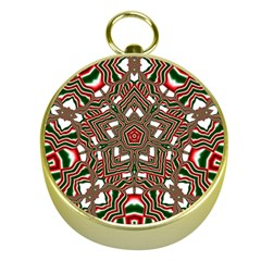 Christmas Kaleidoscope Gold Compasses by Nexatart