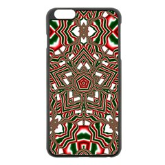 Christmas Kaleidoscope Apple Iphone 6 Plus/6s Plus Black Enamel Case by Nexatart