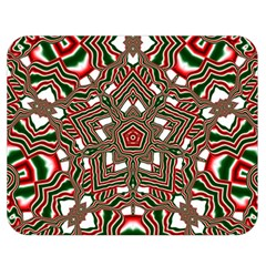 Christmas Kaleidoscope Double Sided Flano Blanket (medium)  by Nexatart
