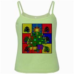 Christmas Ornaments Advent Ball Green Spaghetti Tank by Nexatart