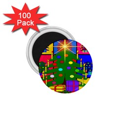 Christmas Ornaments Advent Ball 1 75  Magnets (100 Pack)  by Nexatart