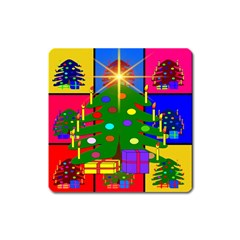 Christmas Ornaments Advent Ball Square Magnet