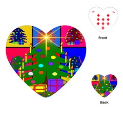 Christmas Ornaments Advent Ball Playing Cards (heart)  by Nexatart