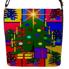 Christmas Ornaments Advent Ball Flap Messenger Bag (s) by Nexatart