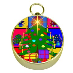 Christmas Ornaments Advent Ball Gold Compasses by Nexatart