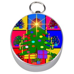 Christmas Ornaments Advent Ball Silver Compasses by Nexatart