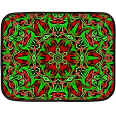 Christmas Kaleidoscope Pattern Fleece Blanket (mini) by Nexatart