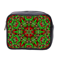 Christmas Kaleidoscope Pattern Mini Toiletries Bag 2 Side