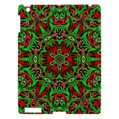 Christmas Kaleidoscope Pattern Apple Ipad 3/4 Hardshell Case by Nexatart