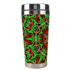 Christmas Kaleidoscope Pattern Stainless Steel Travel Tumblers by Nexatart