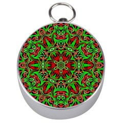 Christmas Kaleidoscope Pattern Silver Compasses by Nexatart