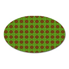 Christmas Paper Wrapping Patterns Oval Magnet by Nexatart