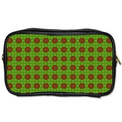 Christmas Paper Wrapping Patterns Toiletries Bags by Nexatart
