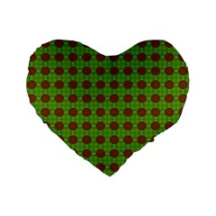 Christmas Paper Wrapping Patterns Standard 16  Premium Flano Heart Shape Cushions by Nexatart