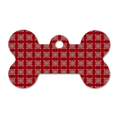 Christmas Paper Pattern Dog Tag Bone (two Sides) by Nexatart