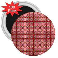 Christmas Paper Wrapping Pattern 3  Magnets (100 Pack)