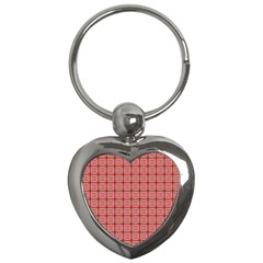 Christmas Paper Wrapping Pattern Key Chains (heart)  by Nexatart