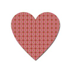 Christmas Paper Wrapping Pattern Heart Magnet by Nexatart