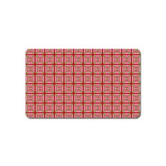 Christmas Paper Wrapping Pattern Magnet (name Card)