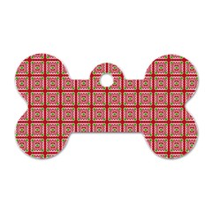 Christmas Paper Wrapping Pattern Dog Tag Bone (two Sides) by Nexatart