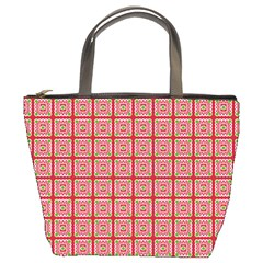 Christmas Paper Wrapping Pattern Bucket Bags by Nexatart