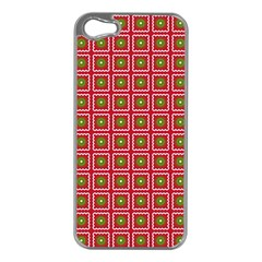 Christmas Paper Wrapping Apple Iphone 5 Case (silver)