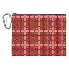 Christmas Paper Wrapping Canvas Cosmetic Bag (xxl) by Nexatart