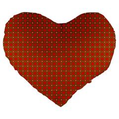 Christmas Paper Wrapping Paper Pattern Large 19  Premium Heart Shape Cushions