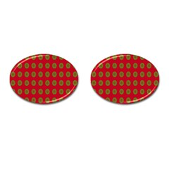 Christmas Paper Wrapping Paper Cufflinks (oval)