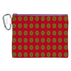 Christmas Paper Wrapping Paper Canvas Cosmetic Bag (xxl) by Nexatart