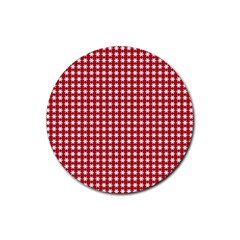 Christmas Paper Wrapping Paper Rubber Coaster (round)