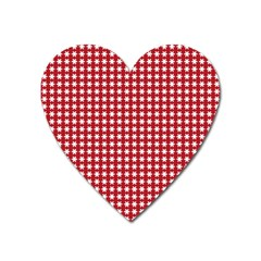 Christmas Paper Wrapping Paper Heart Magnet by Nexatart