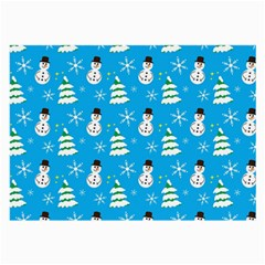 Christmas Pattern Large Glasses Cloth (2 Side) by Nexatart