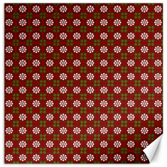 Christmas Paper Wrapping Pattern Canvas 12  X 12   by Nexatart