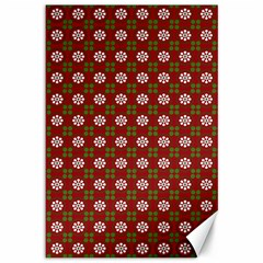 Christmas Paper Wrapping Pattern Canvas 12  X 18   by Nexatart