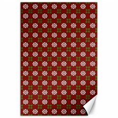 Christmas Paper Wrapping Pattern Canvas 20  X 30   by Nexatart