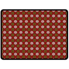 Christmas Paper Wrapping Pattern Double Sided Fleece Blanket (large)  by Nexatart