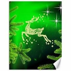 Christmas Reindeer Happy Decoration Canvas 18  X 24   by Nexatart