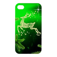 Christmas Reindeer Happy Decoration Apple Iphone 4/4s Hardshell Case