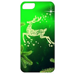 Christmas Reindeer Happy Decoration Apple Iphone 5 Classic Hardshell Case
