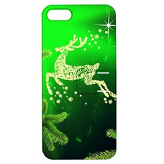 Christmas Reindeer Happy Decoration Apple Iphone 5 Hardshell Case With Stand