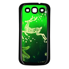 Christmas Reindeer Happy Decoration Samsung Galaxy S3 Back Case (black)