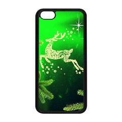 Christmas Reindeer Happy Decoration Apple Iphone 5c Seamless Case (black)