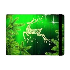 Christmas Reindeer Happy Decoration Ipad Mini 2 Flip Cases by Nexatart