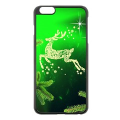 Christmas Reindeer Happy Decoration Apple Iphone 6 Plus/6s Plus Black Enamel Case