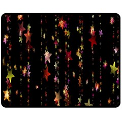 Christmas Star Advent Golden Double Sided Fleece Blanket (medium)  by Nexatart