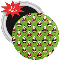 Christmas Santa Santa Claus 3  Magnets (10 Pack)  by Nexatart