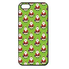 Christmas Santa Santa Claus Apple Iphone 5 Seamless Case (black) by Nexatart