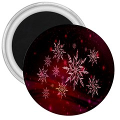 Christmas Snowflake Ice Crystal 3  Magnets by Nexatart